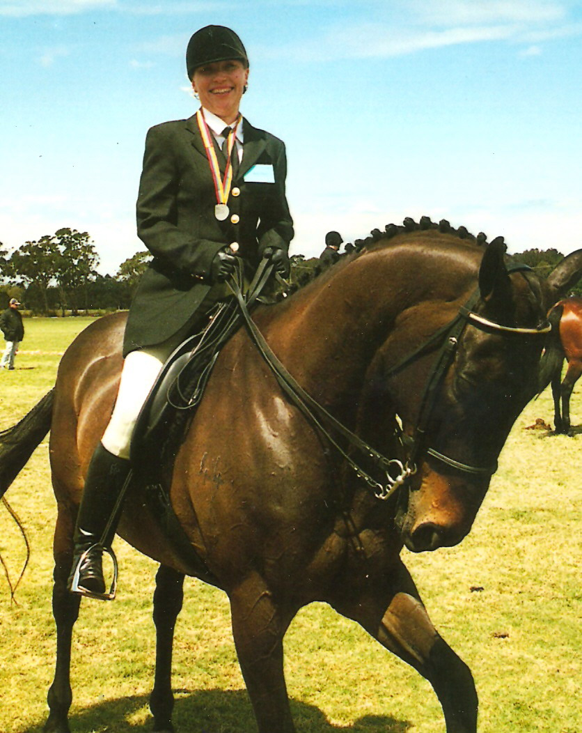 Winning a Gold & Silver Medal on my beautiful horse To Troy at the Australian Masters Games